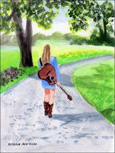 Original Art - Girl with a Guitar