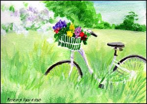 Original Art - Bicycle in the Countr