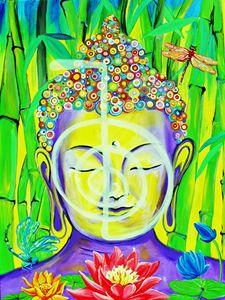 Buddha Cho Ku Rei - 36X48 - Acrylics