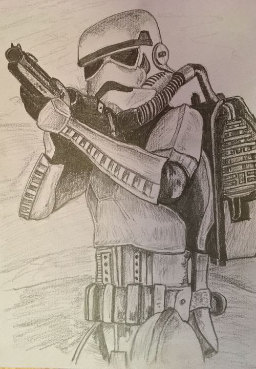 Pencil sketch - Stormtrooper - RJG Sketchbook