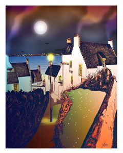 """""""Hie Gait"""" Dysart, Scotland: Night"""