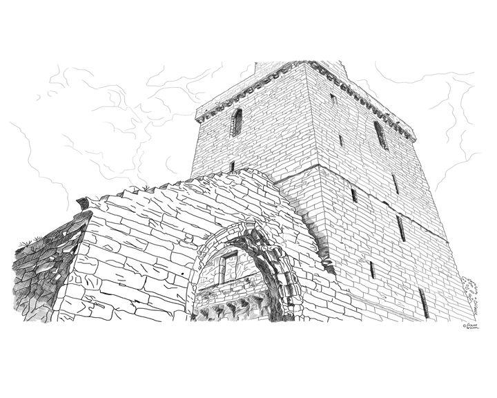 St Serfs Tower, Dysart in Scotland - grantwilson
