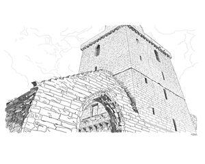St Serfs Tower, Dysart in Scotland