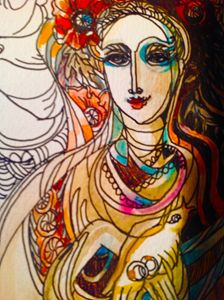 Ukrainian bride (detail)