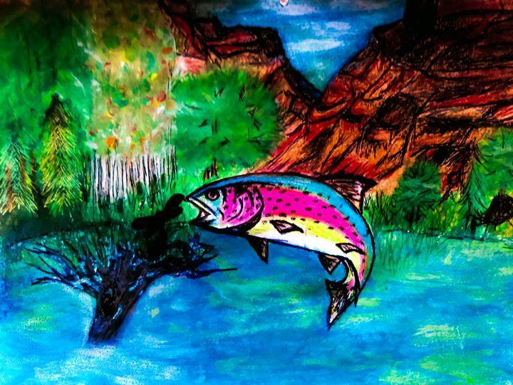 Fishing Trought - Gaylynns Art