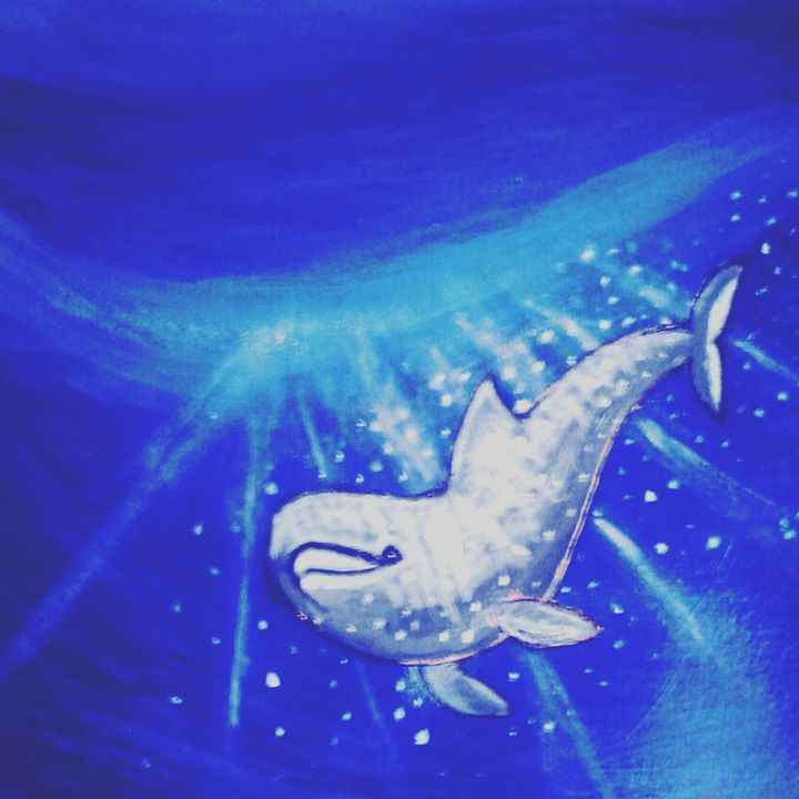 blue dolphin - Gaylynns Art