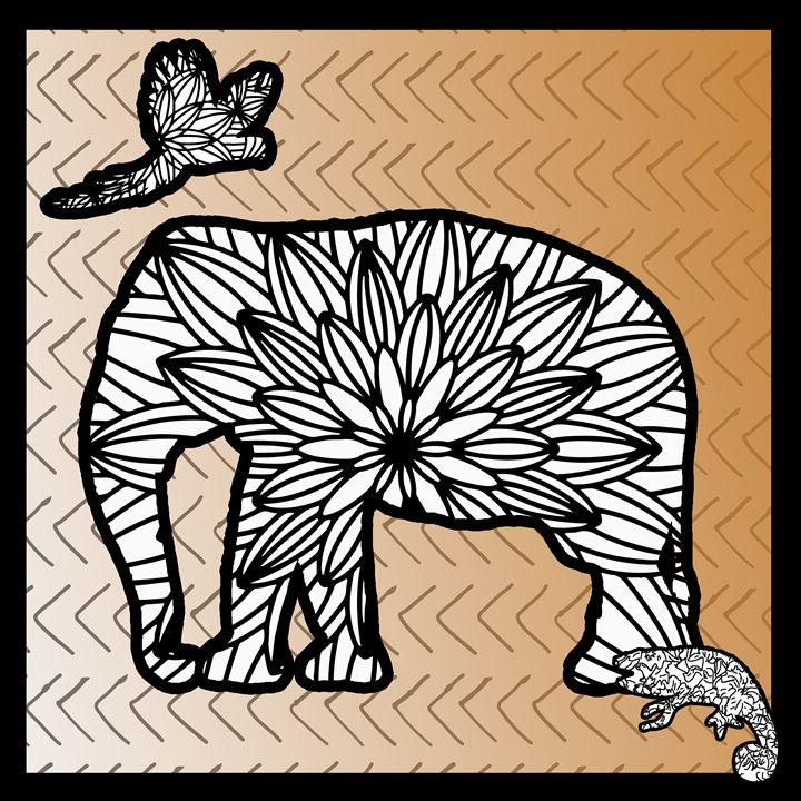 Elephant Safari - Sue Whitehead Arts