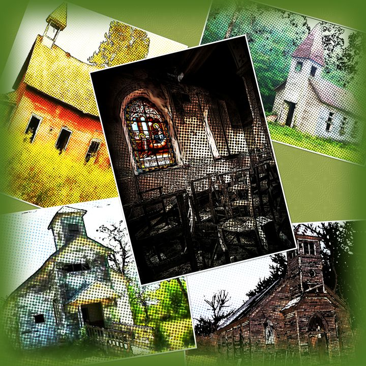 Beautiful Abandoned Churches - Sue Whitehead Arts