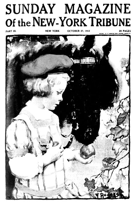 Girl and Her Pony Vintage Poster - Sue Whitehead Arts