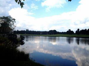 Reflective lake photograph
