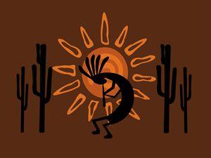 Kokopelli Rustic Brown Desert