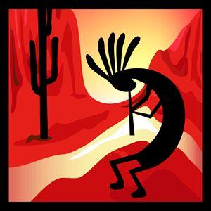 Kpkopelli Desert Sunset
