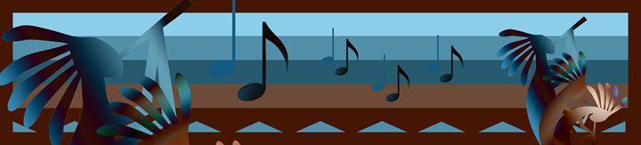 kokopelli Southweat Music Panel - Charmaine Paulson Art