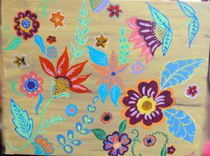 Indian Flower Depiction