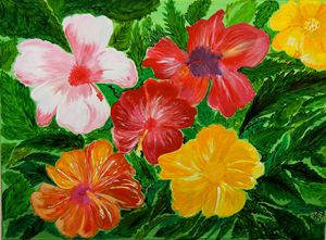 Hibiscus Flower Garden