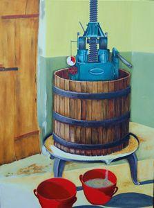White wine grape press