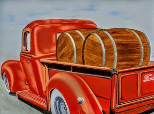 Ford truck & barrels of Spirits