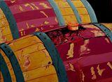 Vintage Red wine barrels merlot
