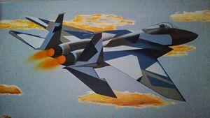 F-15 fighter jet sky shot
