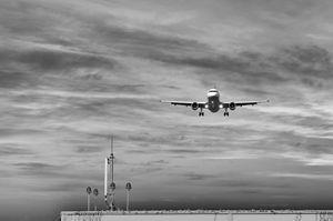 One minute before landing
