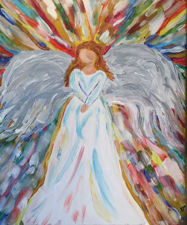 My Angel - Up and Down Art by Kim Mlyniec
