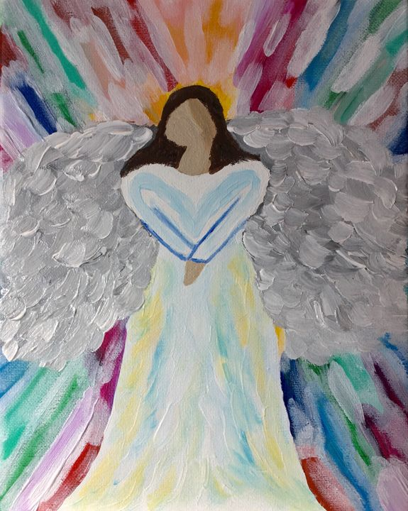 Wings of Love - Up and Down Art by Kim Mlyniec