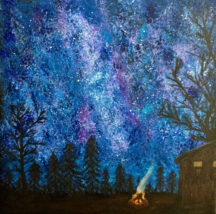 Under the Stars - Up and Down Art by Kim Mlyniec
