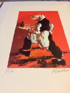 Urbain Huchet Color Lithograph#1/250