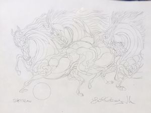 """Azoulay Original Drawing-""""AW Sketch"""" - The Art Place"""