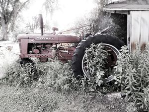Tractor abandoned