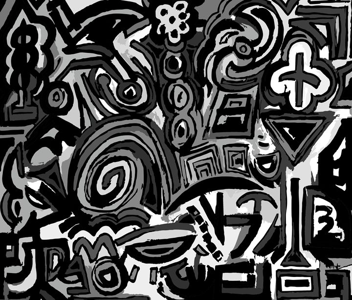 Black symbols - Ludo