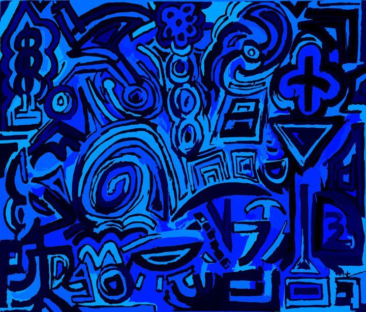 Blue symbols - Ludo