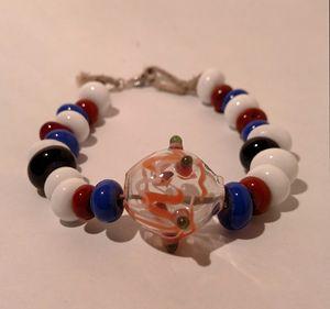 Glass beaded bracelet