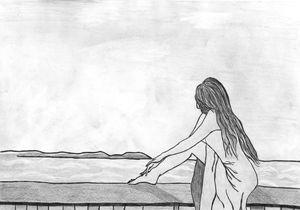 Girl on the balcony