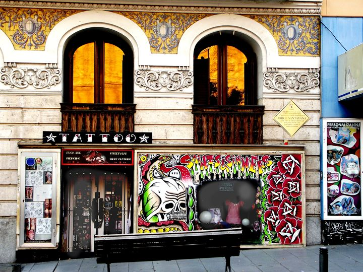 Tattoo Parlour, Madrid, 2014 - Rob Prince