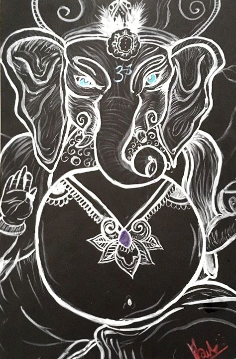 Peace of Ganesh - Broken Reality Art