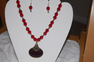 Red beaded neclace