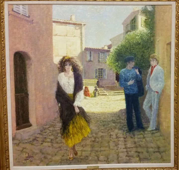 Une Rue a' St. Tropez - AJ Art