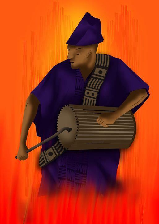 African Drummer - KchronArtistory