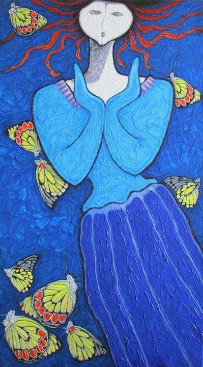 A GIRL AND BUTTERFLIES IX - SHIVAYOGI MOGALI
