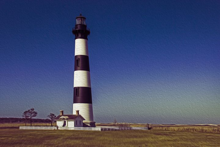 Lighthouse at Bodie Island - Gallery Three Photography