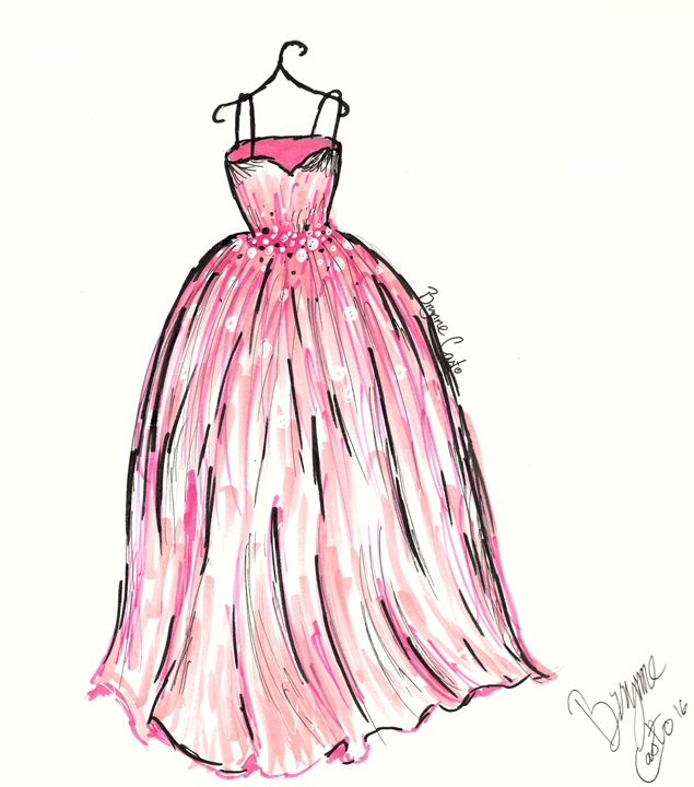 Beautiful Ball Gown Sketch Embellishment - Ball Gown Wedding Dresses ...
