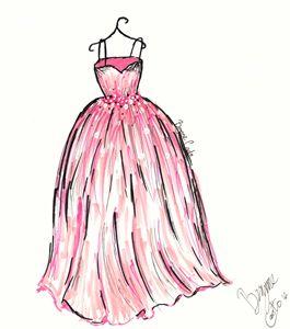 Pink Ballgown Fashion Sketch