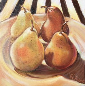Pears in the Morning Sun