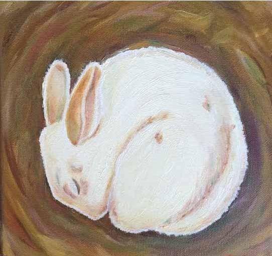 Sleeping Rabbit - Ellery Gallery