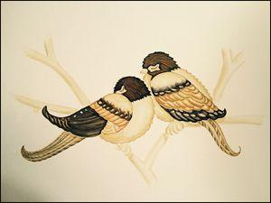 Sleeping Love Birds