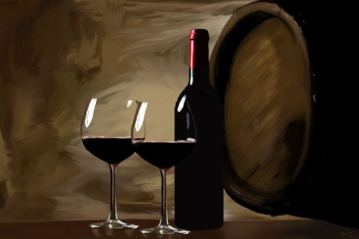 Wine For Two - Paintings