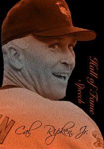 Cal Ripken, Jr. Typopgrahy Portrait