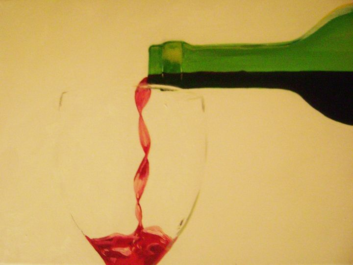 Wine Pour - Paintings