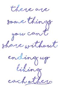 some things you can't share